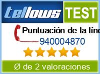 tellows Bewertung 940004870